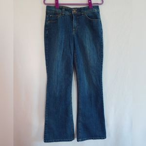Nine West Dark Wash Boot Cut  Blue Jeans